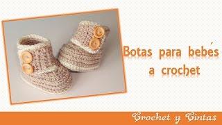 getlinkyoutube.com-Botas – zapatos crochet para bebés de todas las edades - Parte 1