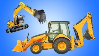 getlinkyoutube.com-Backhoe Excavator | Kids Show Construction Vehicles on Job Site | Animation Cartoon
