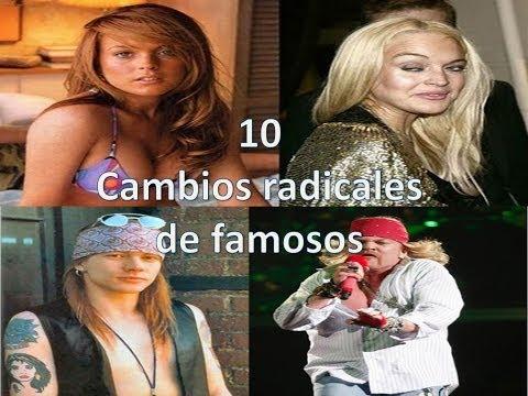 10 cambios radicales de famosos