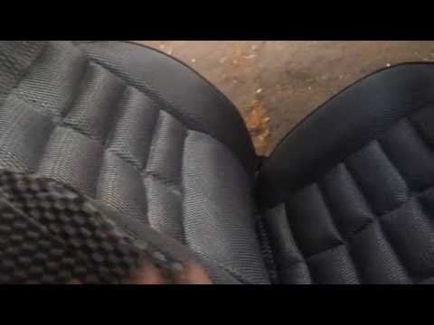 Одеваем авто чехлы Vitol FD-131001 на Лада Калина часть 1 (передние подготовка)
