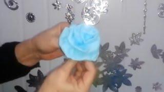getlinkyoutube.com-Aula 9 - Como fazer flores de papel crepom sem corte - Artesanato