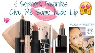 """getlinkyoutube.com-Sephora Favorites """"Give Me Some Nude Lips"""" Review & Swatches!"""
