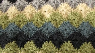 getlinkyoutube.com-EASY crochet catherine wheel / starburst stitch blanket tutorial - part 1