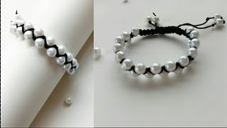 Bracelet/ Friendship Bracelets/ How To Make Bracelets/friendship Band/ Crossed Bracelet With Pearls