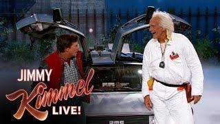 getlinkyoutube.com-Marty McFly & Doc Brown Visit Jimmy Kimmel Live