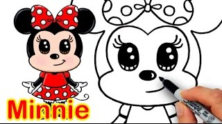 getlinkyoutube.com-How to Draw Disney Minnie Mouse Cute step by step Easy