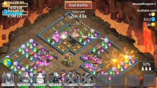 getlinkyoutube.com-Castle Clash Insane Dungeon 3-5 - 3-7 Tutorial