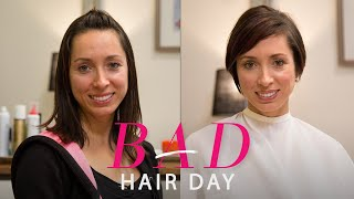 getlinkyoutube.com-The Perfect Edgy Cut for a Busy Working Mom—Glamour's Bad Hair Day