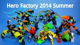 Lego Hero Factory 2014 Summer (44023-44029) - Quick Build Review (레고 히어로팩토리 장난감)