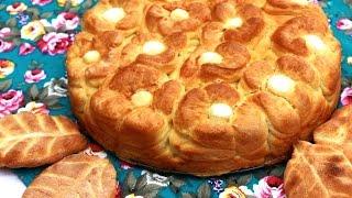 getlinkyoutube.com-Cvetna pogača recept - Homemade Bread Floral