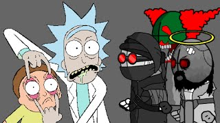 getlinkyoutube.com-Rick and Morty Reviews Madness Combat Characters