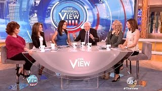 "getlinkyoutube.com-Bernie Sanders ""The View"" - Watch Full Interview!"
