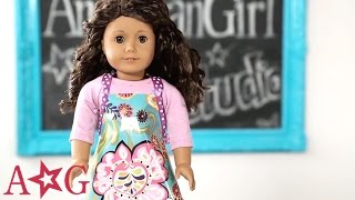 getlinkyoutube.com-Kitchen Apron Doll Craft | American Girl