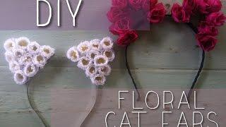 getlinkyoutube.com-DIY: Jhene Aiko Inspired Floral Cat Ears