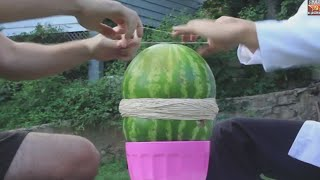 flushyoutube.com-Rubber Watermelon Trick