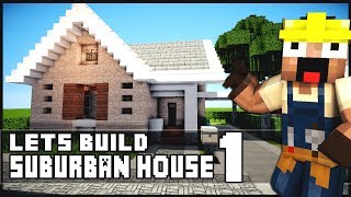 getlinkyoutube.com-Minecraft House Tutorial: Suburban House - Part 1