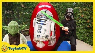 getlinkyoutube.com-GIANT EGG SURPRISE OPENING Star Wars The Force Awakens Toys Kids Video