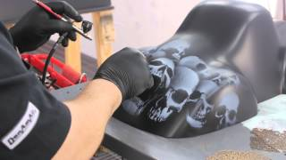 getlinkyoutube.com-Demo of DanAm Pro Skulls Stencils with Mickey Harris