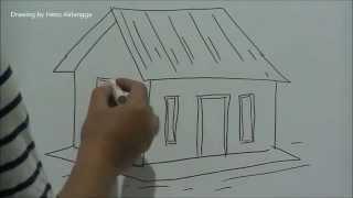 getlinkyoutube.com-Belajar mudah menggambar Rumah