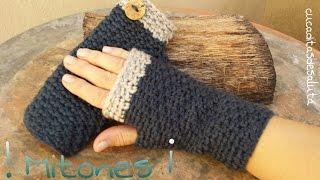getlinkyoutube.com-Mitones (Guantes sin dedos ) a Crochet / Punto cruzado