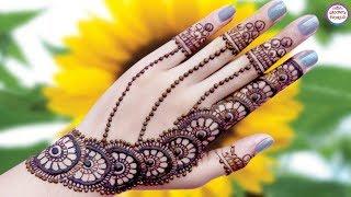 Gol Tikki Mehndi Designs For Back Hand |Ornamental Henna Designs |tatuaje de henna by Jyoti Sachdeva