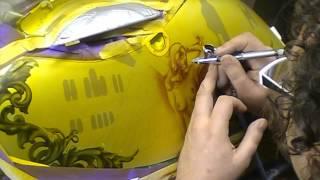 getlinkyoutube.com-Atelier Meijer - Motorcycle sidecase airbrush