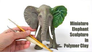 getlinkyoutube.com-Polymer Clay Elephant Sculpture // Speed Sculpting