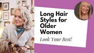getlinkyoutube.com-Looking for the Best Long Hairstyles for Older Women?   Denise McAdam