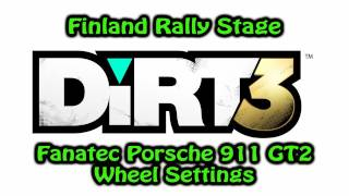 getlinkyoutube.com-DiRT 3 PS3 - Finland Rally Stage with Fanatec Porsche 911 GT2 Wheel (Settings)