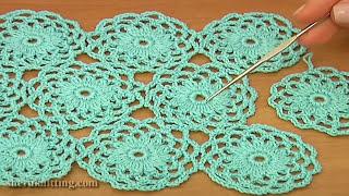 getlinkyoutube.com-Crochet Circle Motif Joining Tutorial 10 Part 2 of 2