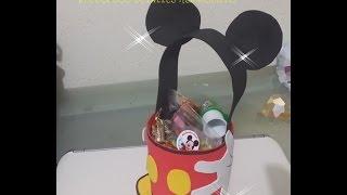 getlinkyoutube.com-DIY Como Hacer Dulcero Micke Mouse Con Botella Pet