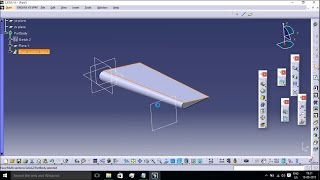 getlinkyoutube.com-Simple Wing Modeling Using MULTI SECTION SOLID OPTION IN CATIA V5