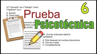 getlinkyoutube.com-PRUEBA PSICOTÉCNICA - Ejemplo 06 - personalidad, razonamiento