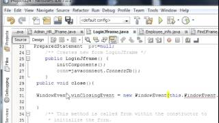 getlinkyoutube.com-Java prog#8. How to close previous jframe on the opening of new jframe in netbeans