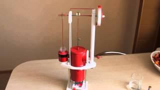getlinkyoutube.com-Stirling Engine (самодельный двигатель Стирлинга)