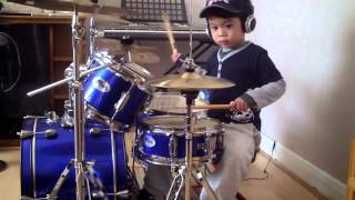 getlinkyoutube.com-System Of A Down - Chop Suey drum cover, 4-Year-Old Drummer