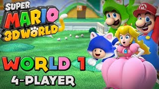 getlinkyoutube.com-Super Mario 3D World - World 1 (4-Player)