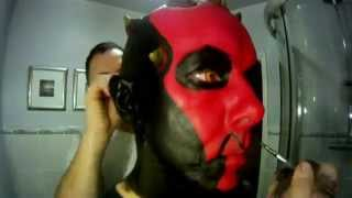 getlinkyoutube.com-Darth Maul makeup condensed to 3 minutes