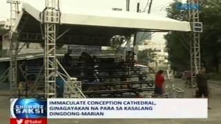 Saksi: Immaculate Conception Cathedral, ginagayakan na para sa kasalang DongYan