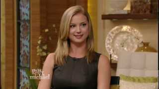 getlinkyoutube.com-Emily VanCamp - Kelly Ripa interview - gorgeous and leggy