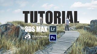 Beach scene - making of tutorial 3dsmax