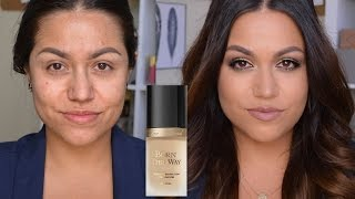 getlinkyoutube.com-Too Faced Born This Way Foundation Demo & Review!