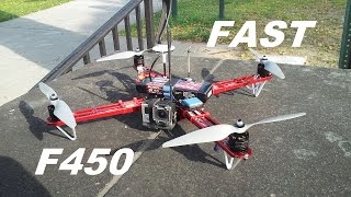 getlinkyoutube.com-DJI F450 Flame Wheel Lighting 100kph 62mph flight with 3s lipo part #14
