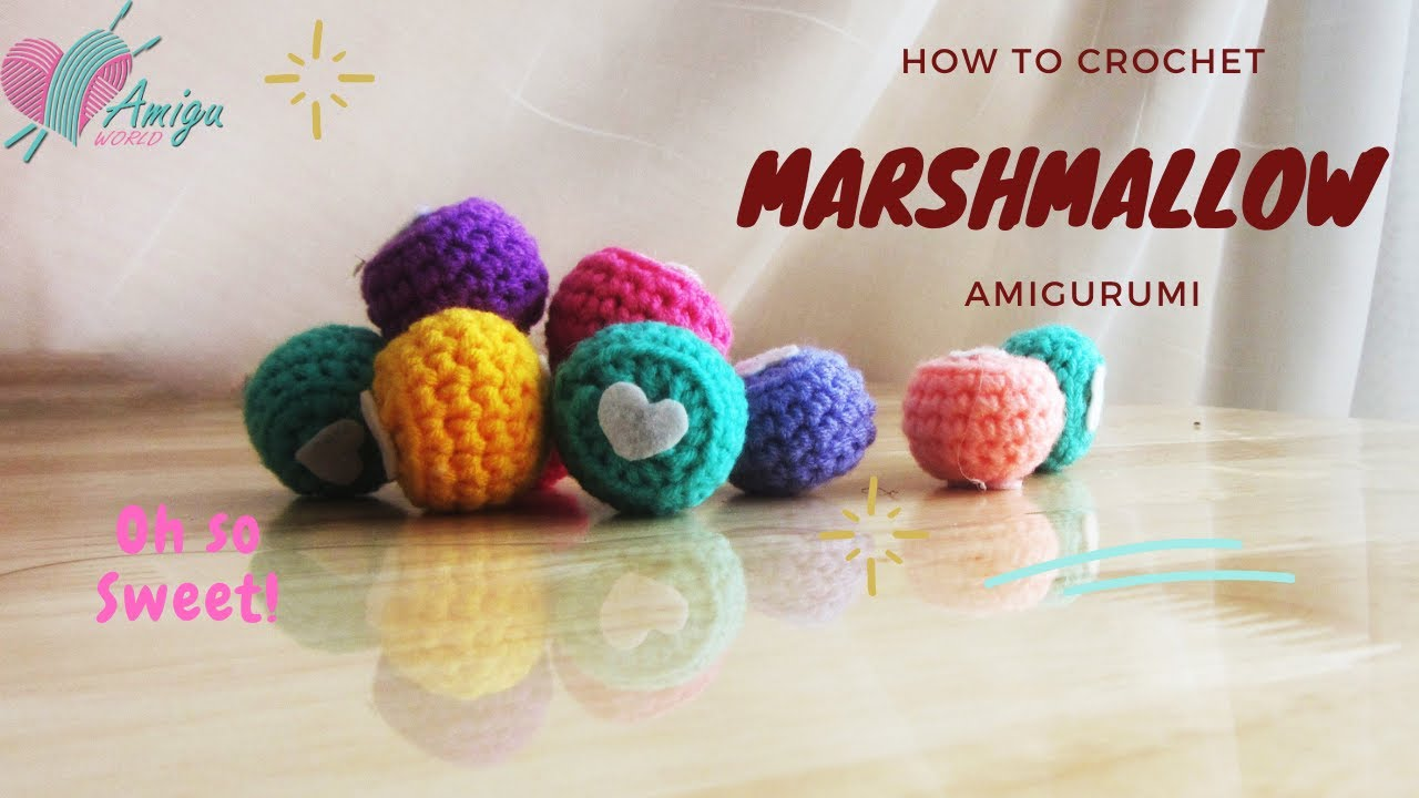 Free Pattern – How to crochet MARSHMALLOW amigurumi