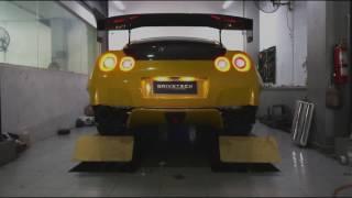 getlinkyoutube.com-Goodluck Yellow GT-R R35 | Rocket Bunny | Armytrix Titanium Exhuast | Indonesia