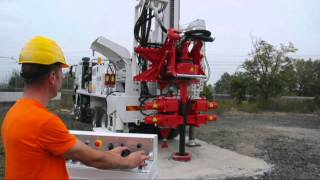 getlinkyoutube.com-MI28 water wells drilling rig, 35 tons pull back and automatic drill pipes loader