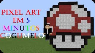 getlinkyoutube.com-Minecraft - Como fazer uma pixel art em 5min #4-Cogumelo(Mario)