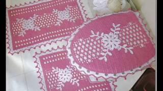 Коврики для ванной, связанные крючком. Crochet bath mats