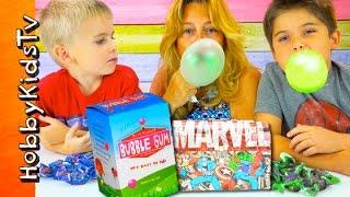 getlinkyoutube.com-Best BIGGEST Bubble Gum! Bubblegum Kit Surprise HobbyPig + HobbyFrog DIY HobbyKidsTV