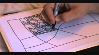 getlinkyoutube.com-How to Draw a Tangle Doodle Part 1